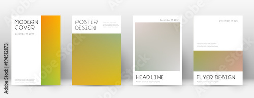 flyer layout minimal dazzling template for brochure annual report