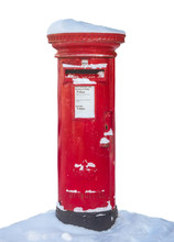 British Post Box In The Snow