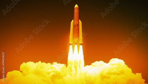 Obraz na plátně  rocket launch