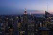 View of Manhattan skyline, New York City.