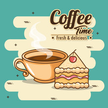 Delicious Coffee Time Elements...