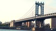 Manhattan Bridge over the East River in NY