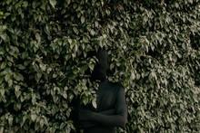 Shadow Man In Leaves