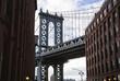 Manhattan Bridge from Dumbo Area, New York. USA.