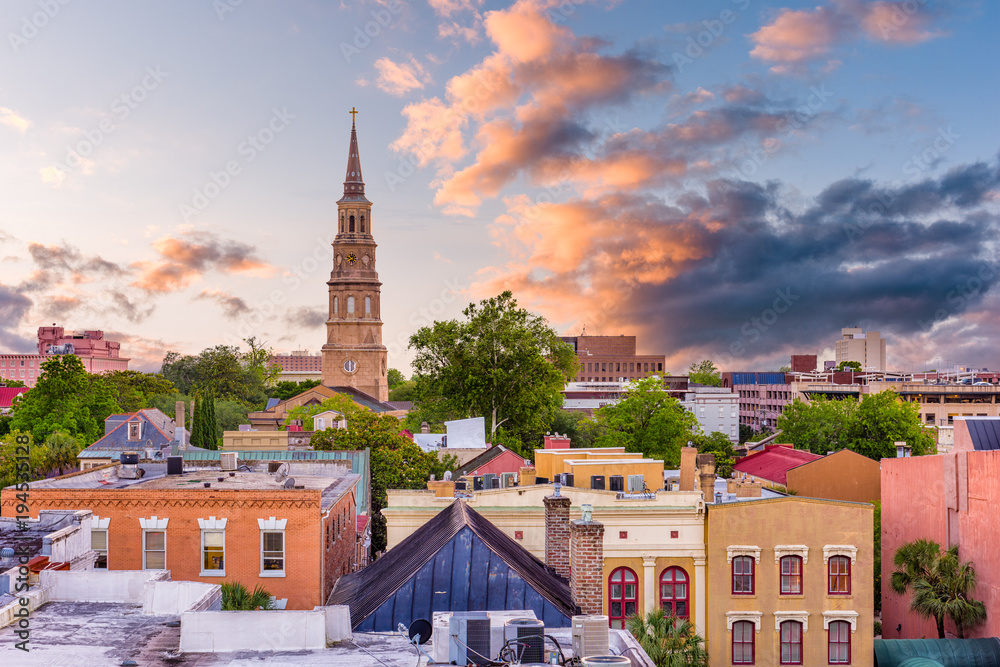 Fototapety, obrazy: Charleston, South Carolina, USA Skyline