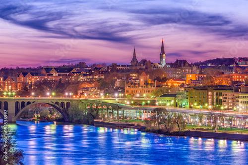 Zdjęcie XXL Georgetown, Washington DC, USA na Potomacu