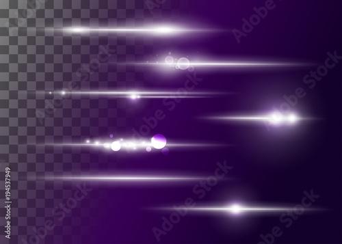 Fotografía  Set of Vector Glowing Neon Light Effects