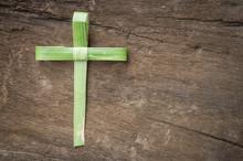 Palm Sunday Concept: Cross Sha...