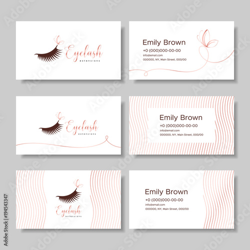 Branding for salon eyelash extension, shop cosmetic products