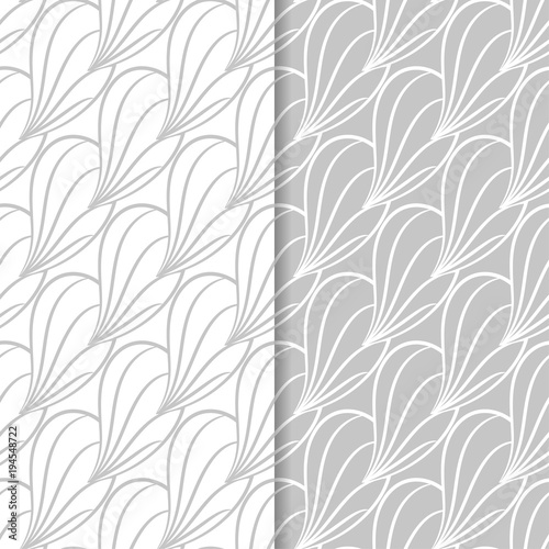 Fototapeta Abstract seamless patterns. Gray backgrounds for textile and fabrics obraz na płótnie