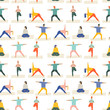 Healthy lifestyle yoga vector illustration