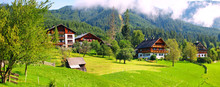 Rural Landscape With Green Gra...