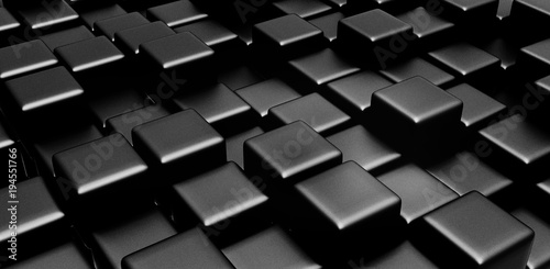 Black cubes BACKGROUND
