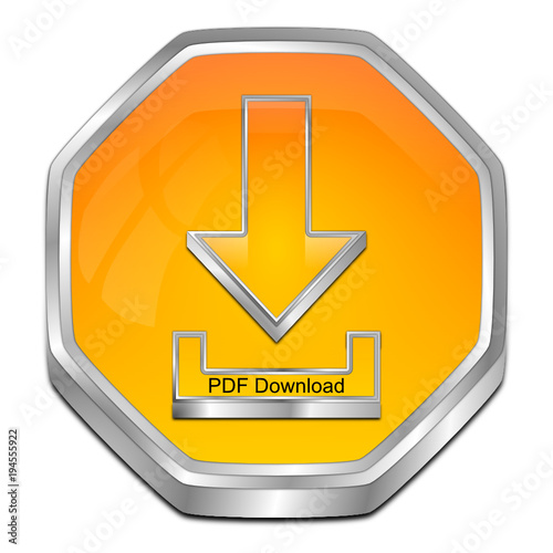 PDF Download button - 3D illustration - Buy this stock vector and