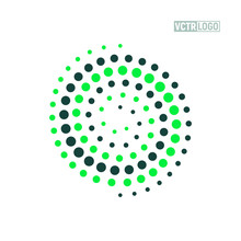 Green Spiral Logo Ecology And Recycle Vector Concept.Isolated Green Swirl On White Background