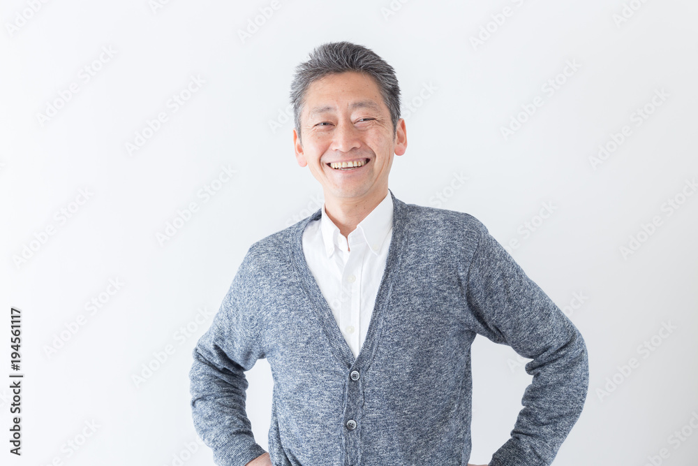 Fototapety, obrazy: シニア 男性