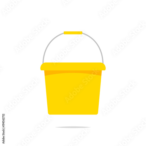 Bucket vector isolated Wall mural