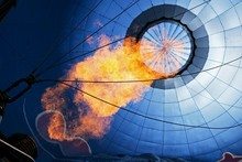 Hot Air Balloon Being Heated W...