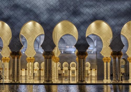 Staande foto Abu Dhabi Sheikh Zayed Mosque, Emirate of Abu Dhabi, United Arab Emirates, Asia