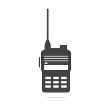 Walkie Talkie Icon Vector Isol...