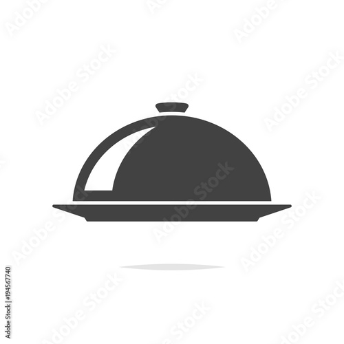 Food serving cover icon vector Fototapete