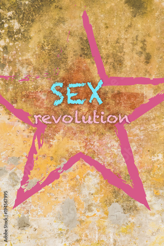 A caption on the wall about sexual revolutio