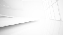 White Smooth Abstract Architec...
