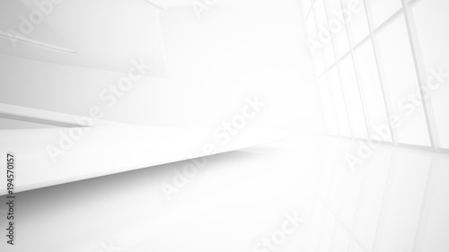 Fotografie, Obraz  White smooth abstract architectural background