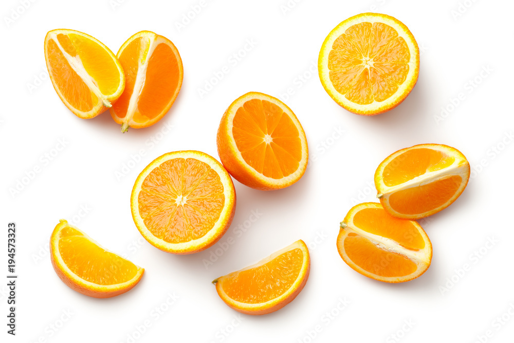 Fototapeta Orange Isolated on White Background