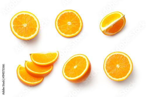 Fototapety, obrazy: Orange Isolated on White Background