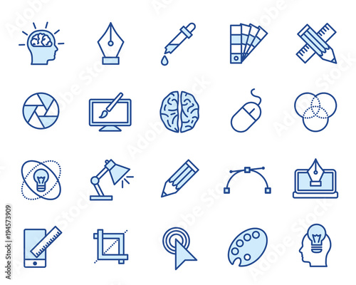 Foto Design Vector Icon Set