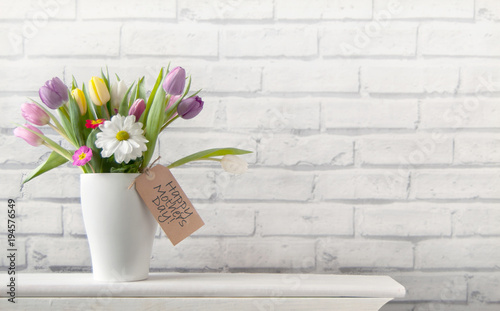 Happy mothers day flowers background