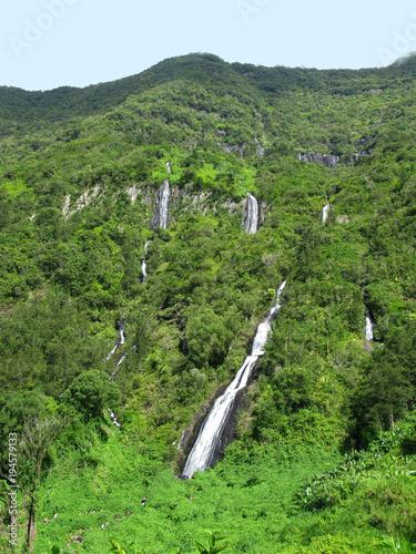 Saint Benoit / La Reunion: The Bridal Veil Falls are located