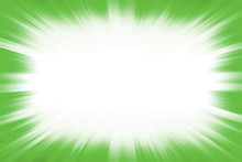 Green Starburst Explosion Border