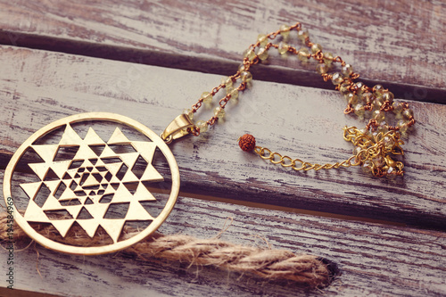 Sacred geometry pendant necklace - Buy this stock photo and