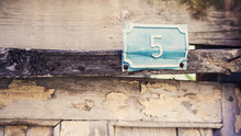 Out Door Wooden Number 5 Sign
