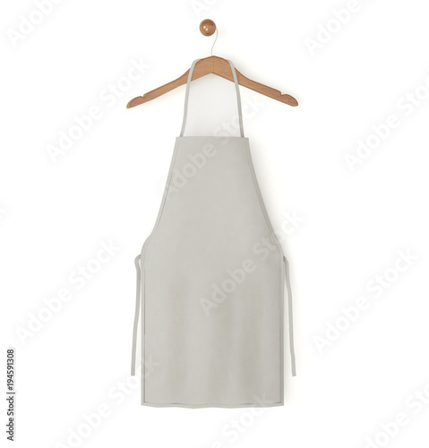 Fotografiet grey isolated apron
