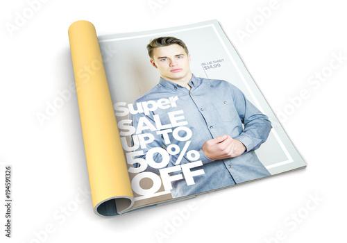 isolated magazine fashion advertisement Canvas-taulu