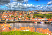Whitby North Yorkshire Uk Town...