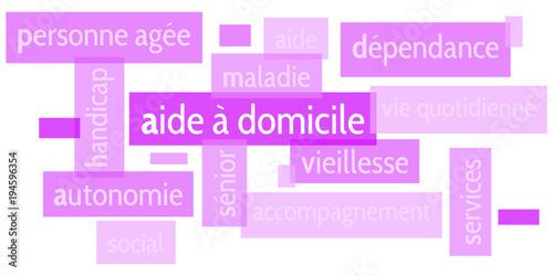 Foto  Nuage de Mots Aide à Domicile v5
