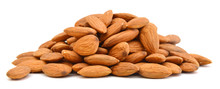 Heap Of Almond Nuts Isolated O...