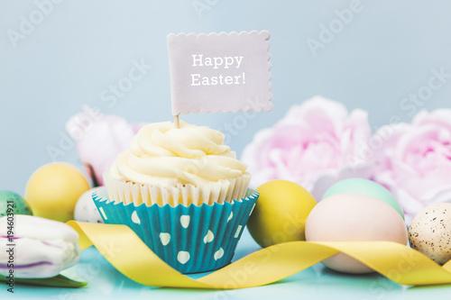 Photo  Happy Easter Cupcake