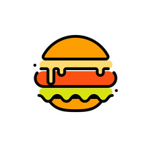 Burger Abstract Outline Vector...