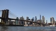 Blue Sky over Brooklyn Bridge and Manhattan