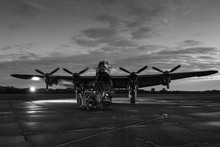 Lancaster Bomber At Night