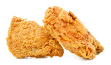 Fry Chicken Isolated In White ...