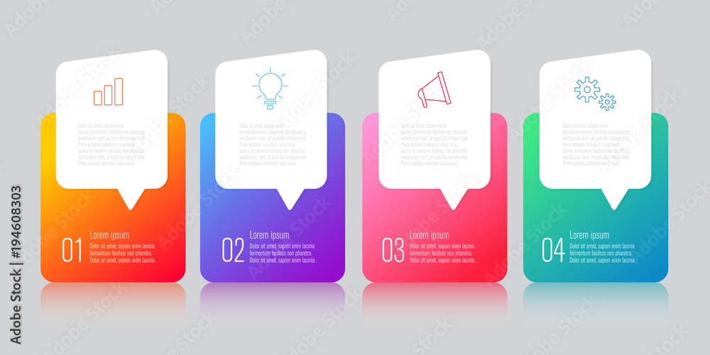 Fototapety, obrazy: infographics design with speech bubble