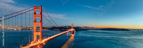 Photo sur Toile San Francisco Golden Gate bridge, San Francisco California