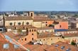 panorama seen from the Este castle Ferrara Italy