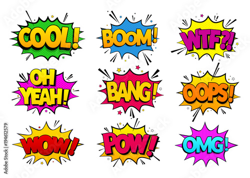 Photo  Collection comic speech effects